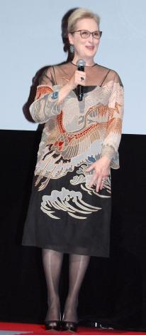 『第29回 東京国際映画祭(TIFF)』オープニングセレモニーに出席したメリル・ストリープ (C)ORICON NewS inc.