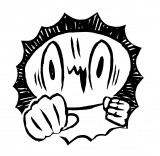 覆面漫画家・カメントツ氏の自画像