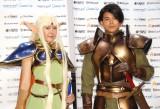 舞台『ロードス島戦記』制作発表会見に出席した(左から)HKT48・多田愛佳、菅谷哲也 (C)ORICON NewS inc.