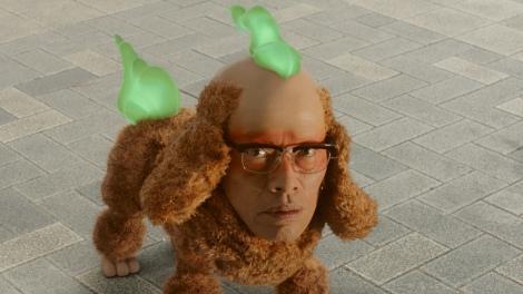 画像写真 遠藤憲一人面犬役で妖怪ウォッチ出演メイクし