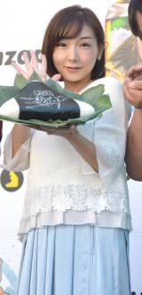 スマホゲーム『戦国炎舞−KIZUNA−』戦国握り飯配布キャンペーンイベントに登壇した加護亜衣 (C)ORICON NewS inc.