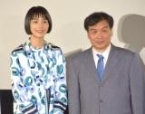 映画『この世界の片隅に』舞台あいさつに出席した(左から)のん、片渕須直監督 (C)ORICON NewS inc.