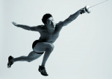 """アスリートなどの""""筋肉美""""をテーマとした『カラダ写真展』が開催 写真は見延和靖選手 (C)日本テレビ"""