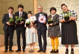 (左から)博多華丸・大吉、森三中・村上和子、石原和幸氏 、おかずクラブのオカリナ、ゆいP (C)ORICON NewS inc.