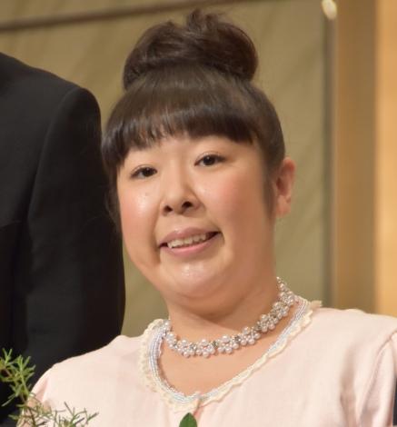 石原和幸氏の祝賀会に出席した森三中・村上和子 (C)ORICON NewS inc.