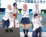 アルスマグナ7thシングル「気分上々↑↑feat.SAE TOKIMIYA」のリリース記念イベントに出席した宮澤佐江(中央) (C)ORICON NewS inc.
