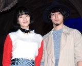 anderlust(左から)越野アンナ、西塚真吾=『VenusFort Christmas Projection Mapping&SHOW 2016 点灯式』 (C)ORICON NewS inc.