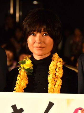 映画『ぼくのおじさん』初日舞台あいさつに登壇した真木よう子 (C)ORICON NewS inc.