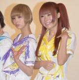 NHK BSプレミアム『ネットで決戦!#(笑)動画作ってみた』収録後の取材会に出席したでんぱ組.incの(左から)最上もが、成瀬瑛美 (C)ORICON NewS inc.