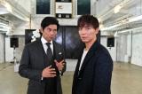 TBS系連続ドラマ『IQ246』に主演する織田裕二とゲスト出演する成宮寛貴(右) (C)TBS