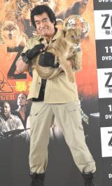 子ライオンと対決した藤岡弘、=海外ドラマ『ZOO−暴走地区−』DVD発売イベント (C)ORICON NewS inc.