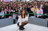 2ndアルバム『Get Ready▽』(▽=ハート、2日発売)リリース記念イベントを行った板野友美