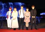 ハウステンボスの点灯式に出席した映画『イタズラなKiss THE MOVIE』のキャスト陣(左から)灯敦生、山口乃々華(E-girls)、佐藤寛太、美沙玲奈、大倉士門
