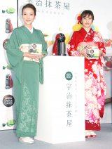 艶やかな着物姿で登場した(左から)西川史子、佐野ひなこ (C)ORICON NewS inc.
