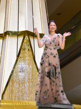 蝶の刺繍があしらわれたレースのドレスで登場した長澤まさみ (C)ORICON NewS inc.