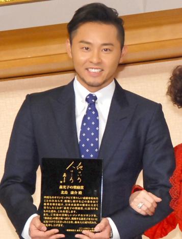 『第二回 森光子の奨励賞』を受賞した北島康介 (C)ORICON NewS inc.