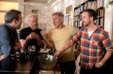 (左から)ドゥニ・ヴィルヌーヴ監督、前作を監督したリドリー・スコット氏、ハリソン・フォード、ライアン・ゴズリング
