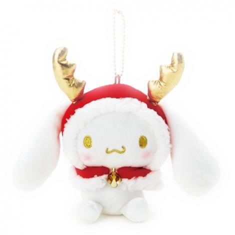 サムネイル サンリオから発売されたクリスマス限定デザインアイテム『マスコットホルダー(シナモロール)』