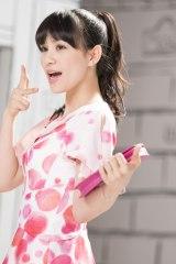 『Ora2×Perfume All Day くちもとBeauty』篇メイキングより(写真はあ〜ちゃん)