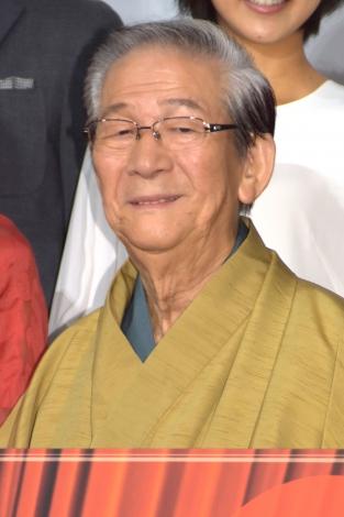 映画『オケ老人!』公開記念舞台あいさつに出席した小松政夫 (C)ORICON NewS inc.