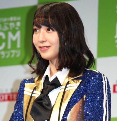 『HKT48vs欅坂46 つぶやきCMグランプリ』開催発表記者会見を行ったHKT48・松岡菜摘 (C)ORICON NewS inc.