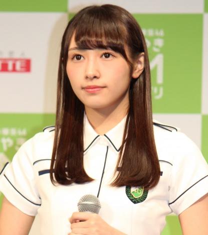 『HKT48vs欅坂46 つぶやきCMグランプリ』開催発表記者会見を行った欅坂46・渡辺梨加 (C)ORICON NewS inc.