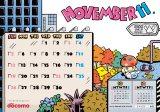 イラストレーター・BRIDGE SHIP HOUSE氏による11月のカレンダー