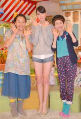 『メレンゲの気持ち』新MCの三吉彩花(中央)と、いとうあさこ(左)、久本雅美(右) (C)ORICON NewS inc.