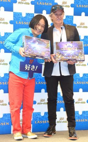 『ラッセン ジグソーパズル』の新CM発表記念イベントに出席した(左から)永野、クリスチャン・ラッセン氏 (C)ORICON NewS inc.