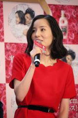 「レノアハピネス 半径30cmのハピネスドーム」発表プレスイベントに登場した女優・蓮佛美沙子 (C)oricon ME inc.