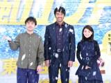(左から)ムロツヨシ、阿部寛、大島優子 (C)ORICON NewS inc.