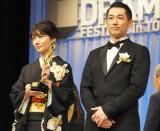 朝ドラ『あさが来た』に出演した(左から)波瑠、ディーンフジオカ (C)ORICON NewS inc.