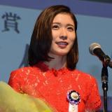 『第8回TAMA映画賞』本年度最も飛躍した女優、顕著な活躍をした新人女優に贈られる最優秀新進女優賞を受賞した松岡茉優 (C)ORICON NewS inc.