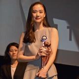『第8回TAMA映画賞』本年度最も心に残った女優を表彰する最優秀男優賞を受賞した蒼井優(C)ORICON NewS inc.