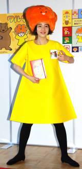 自身が考案したキャラ「黄色いワンピースのワルイちゃん」コスプレで登場した、のん (C)ORICON NewS inc.