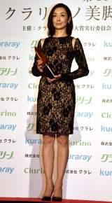 『クラリーノ美脚大賞2016』の20代部門を受賞した草刈民代 (C)ORICON NewS inc.