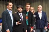 (左から)デイビッド・ヘイマン、ダン・フォグラー、エディ・レッドメイン、アリソン・スドル、デイビッド・イェーツ監督 (C)ORICON NewS inc.=映画『ファンタスティック・ビーストと魔法使いの旅』来日イベント第2弾 (C)ORICON NewS inc.