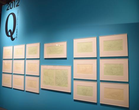 『エヴァンゲリオン』の資料が展示=株式会社「カラー」10周年記念展プレス内覧会 (C)ORICON NewS inc.