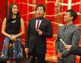 『BSスカパー!って知っていますか!? 第4弾 今田耕司の裏ものまねチャンピオン決定戦』収録に臨んだ(左から)Atsuko、今田耕司、河本準一