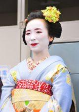 東京・六本木のオリコンに来社し、京都をPRした舞妓の叶紘(かのひろ)さん (C)oricon ME inc.