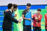 江宏傑(ジャンホンジエ)選手との結婚を祝福される福原愛(C)テレビ朝日