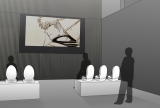 『銀魂展』での 「トイレと映像の融合シアター」 会場限定の映像が上映される (C)空知英秋/集英社