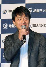 『地盤ネット ジバングー』新CMお披露目会に出席した神保悟志(C)oricon ME inc.