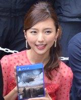 人気ゲームシリーズ最新作『FINAL FANTASY XV』発売記念イベントに出席した真野恵里菜 (C)ORICON NewS inc.