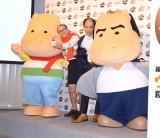 (左から)カバくん、たかし、斎藤司、カバさん (C)ORICON NewS inc.