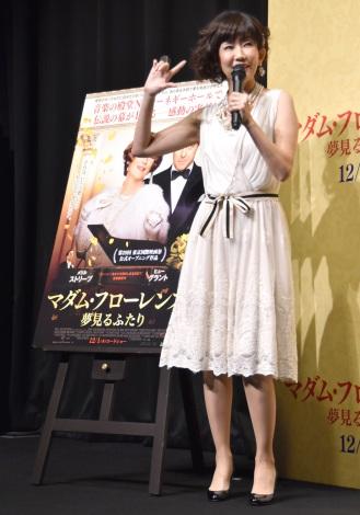 リクエストに応えて「センチメンタル・ジャーニー」を歌った松本伊代=映画『マダム・フローレンス! 夢見るふたり』公開直前イベント (C)ORICON NewS inc.