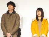 ドラマ『いつかこの恋を思い出してきっと泣いてしまう』の試写会に出席した(左から)高良健吾、有村架純 (C)ORICON NewS inc.