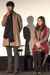 ドラマ『いつかこの恋を思い出してきっと泣いてしまう』の試写会に出席した(左から)坂口健太郎、高畑充希 (C)ORICON NewS inc.