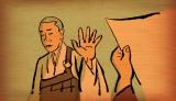 11月30日放送、NHK・Eテレ『オトナの一休さん』 第九則「印可状なんていらない」より。若き日のトンデモ行動に秘められた、一休の揺るぎない信念とは?(C)NHK