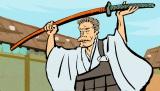 12月7日放送、NHK・Eテレ『オトナの一休さん』第十則「ビジネス坊主はニセ坊主」より。一休の肖像画にも繰り返し描かれた衝撃の奇行とは?(C)NHK
